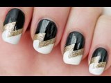 DIY NAIL ART_ Cute Nail Art Design using Scotch Tape! - Easy Nail Designs You Can Do With Scotch Tape
