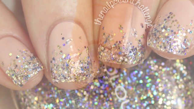 Wedding Nails Art -Simple Wedding Nails - Bridal Nails -Wedding Nails -   DIY WEDDING INSPIRED NAIL ART_ Glittery Gradient Tips