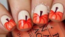 Easy Autumn Pumpkin Nail Art Tutorial _Easy and Fun Fall Nails  - Super Easy Step-By-Step Fall Nail Tutorials 2016