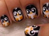 Easy Penguin Nail Art DIY Tutorial _Cute Penguin Nail Art- Tutorial: How to Paint Penguin Nails