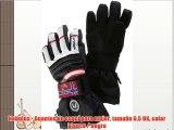 Nebulus - Guantes de esquí para mujer tamaño 65 UK color blanco / negro