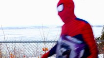 Spiderman vs Catwoman in Real Life! Spiderman is Trapped by Catwoman – Fun Superhero Movie!