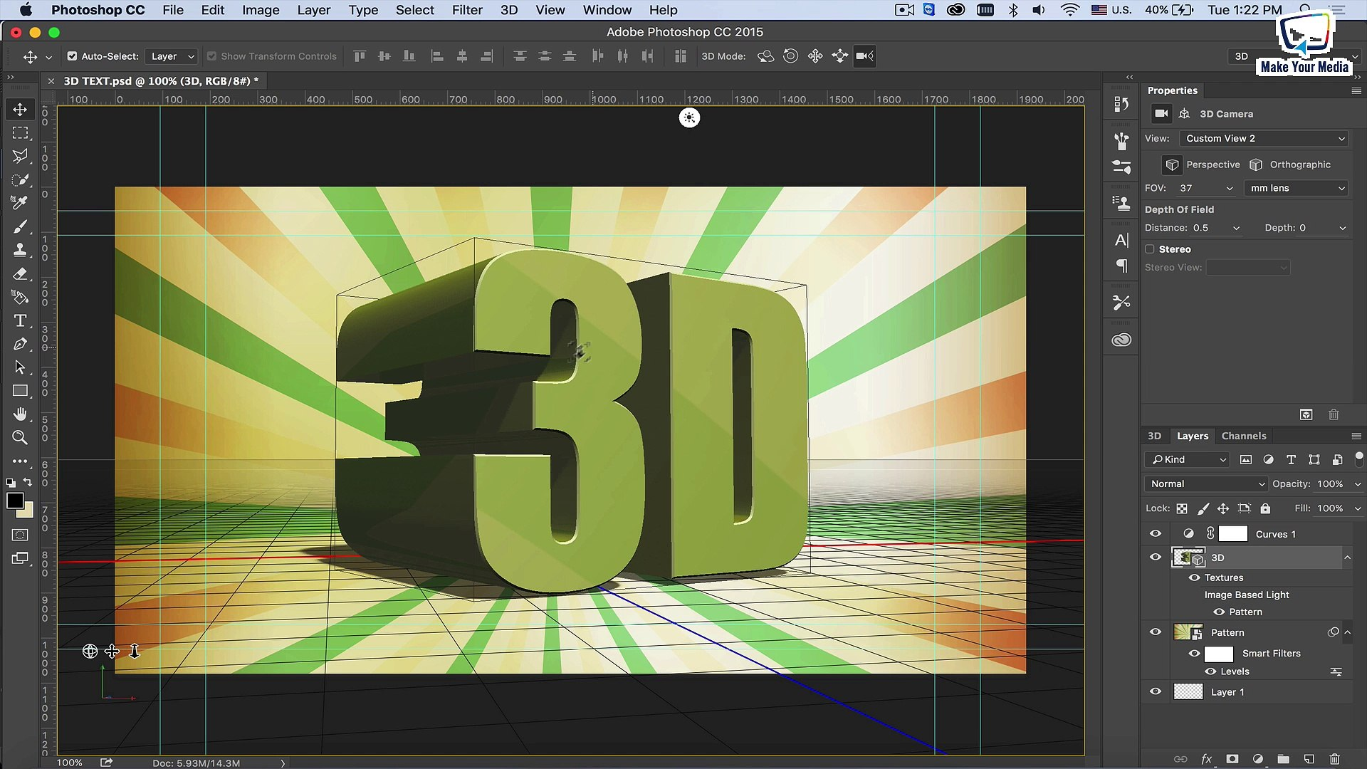 Photoshop Tutorial: Creating Animated 3D Text