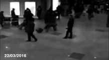 CCTV captures Brussels Airport  in the explosion at the airport and Metro Several Killed