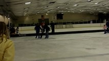 Physics+Modeling Ice Skate trip: (almost) constant force