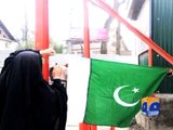 Pakistani flags hoisted in occupied Kashmir -23 March 2016