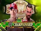 CM Punk vs John Cena - Money in the Bank 2011-  WWE Championship