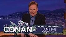 Conan Previews His Bonnaroo Lineup Announcement - CONAN on TBS