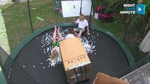 Attempted Trampoline Stunt Ends in Injury
