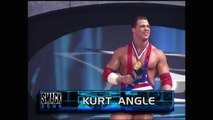 KURT ANGLE VS. DWAYNE THE ROCK JOHNSON - WWE Wrestling - Sports MMA Mixed Martial Arts Entertainment