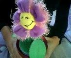 Soraya en haar himalyja plant made bij Sandra