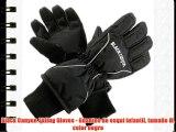Black Canyon Skiing Gloves - Guantes de esquí infantil tamaño M color negro