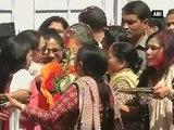 Delhi Sonia Gandhi, Rahul Gandhi celebrate Holi at AICC headquarters