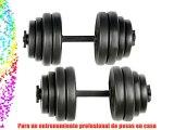 Physionics - Juego de mancuernas  2 pesas de 15kg/u ajustable