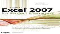 Download Microsoft Office Excel 2007 for Project Managers