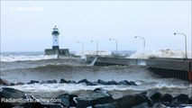 Lake Superior produces massive waves during late winter storm