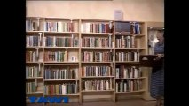 Lifting in book stores using Protema electric lift trolley from TAWI