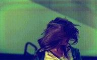 slow motion hair flip