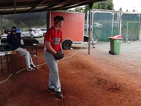 Focusband –  Kilby pitching @ MLB ABF baseball camp  1