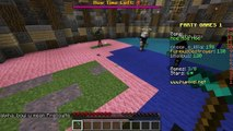 Minecraft: PARTY MINI GAMES! (COIN JUMPING, VOLCANO PARKOUR, PIG FISHING!) Mini Game
