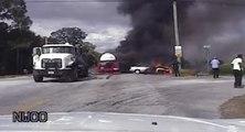 Deux policiers affrontent les flammes pour sauver une femme