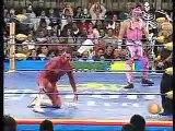 AAA-SinLimite 2009-01-19 Guanajuato 05 Abyss, Konnan & Electroshock vs. Abismo Negro, La Parka & El Mesias