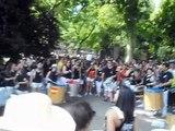 Calentando motores con la Batukada antes comenzar la Manifestacion por el Orgullo LGTB 05/07/14