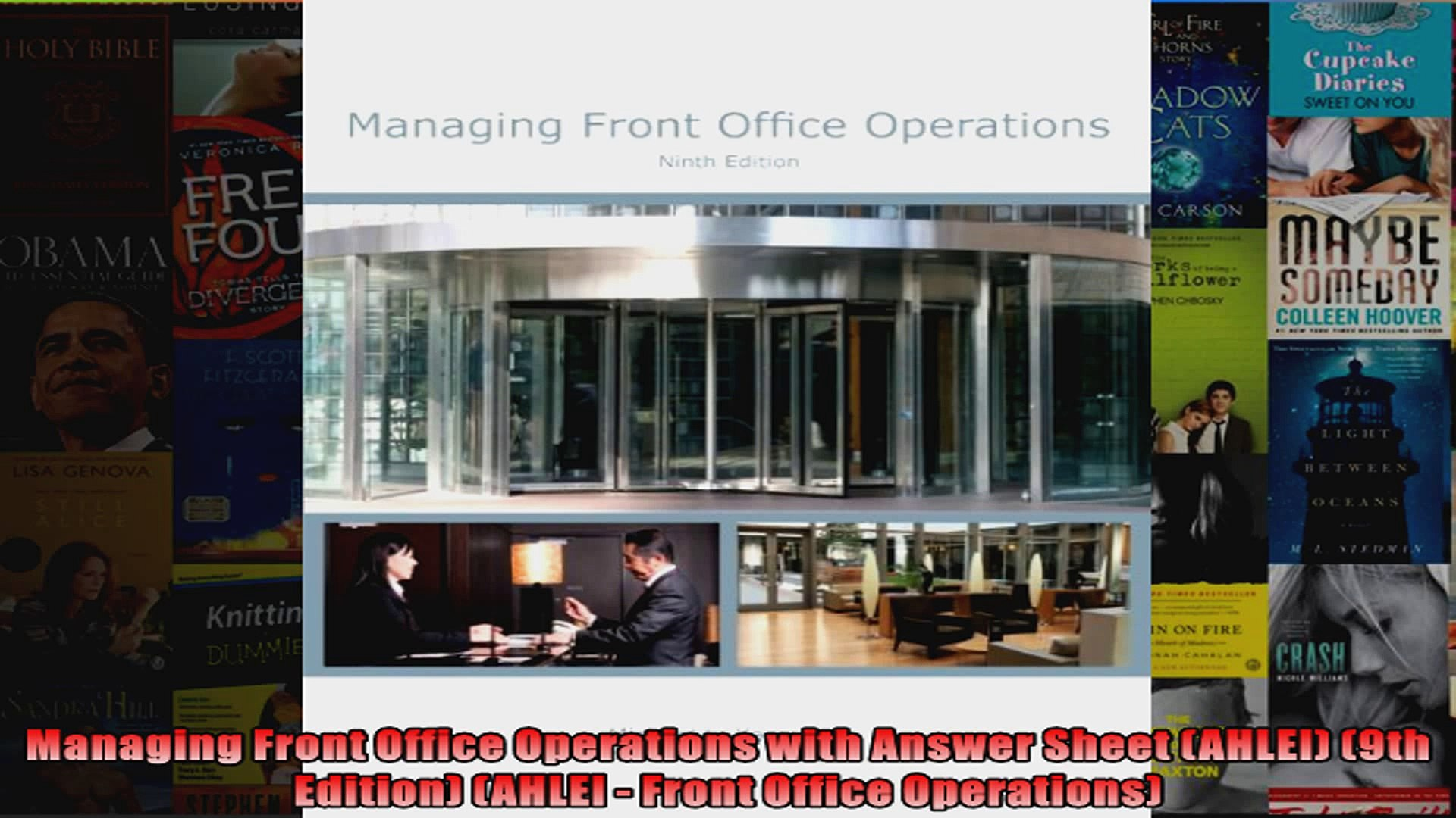 Managing Front Office Operations with Answer Sheet AHLEI 9th Edition AHLEI  Front