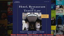 Hotel Restaurant and Travel Law 7th Edition