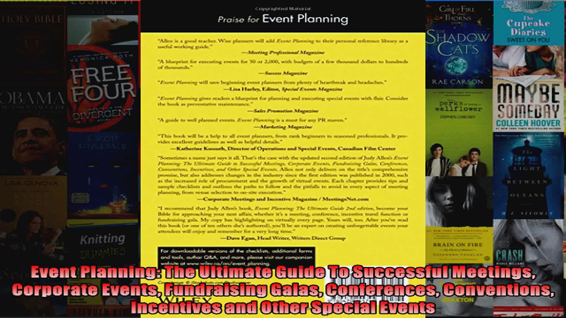 Event Planning The Ultimate Guide To Successful Meetings Corporate Events Fundraising
