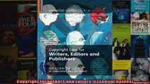 Copyright for Authors and Editors Essential Guides