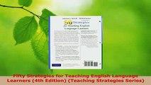 PDF  Fifty Strategies for Teaching English Language Learners 4th Edition Teaching Strategies PDF Book Free