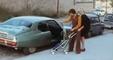Johan Cruyff au volant de sa Citroën SM dans les rues de Barcelone