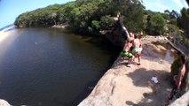Quadruple Back off 7m Cliff!