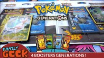 Ouverture de 4 Boosters Pokémon GENERATIONS Français ! EX ET FULL ART SURPRISE !