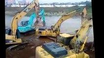 crazy excavator operator, funny excavator videos, excavator