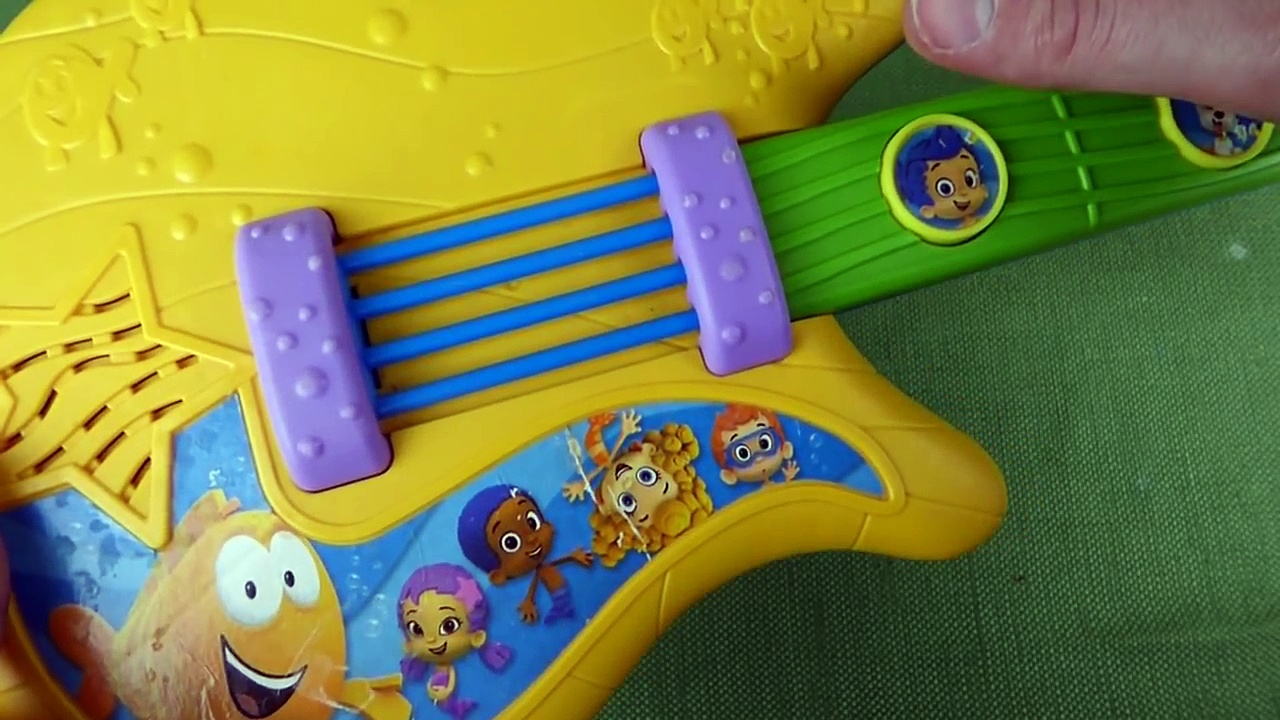Bubble Guppies Fin-Tastic Guitar with LOTS of Nursery Rhyme Songs & 3 Guppy Songs!