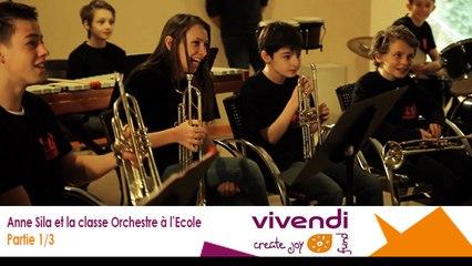 Anne Sila et la classe Orchestre à l'Ecole 1/3