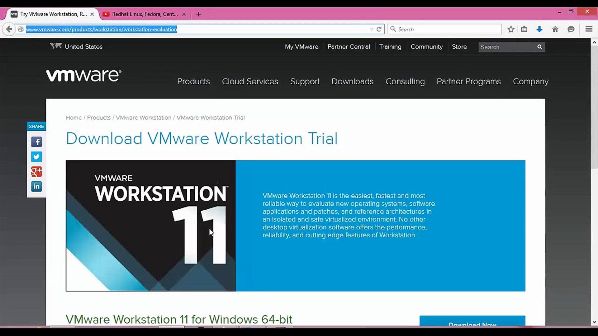 How to Install VMware Workstation 11 to Create Virtual Machines Fedora  23/22 Desktop 64/32