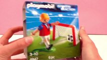 Football Playmobil Français – Entraînement de foot de tir au but – But et ballon de foot