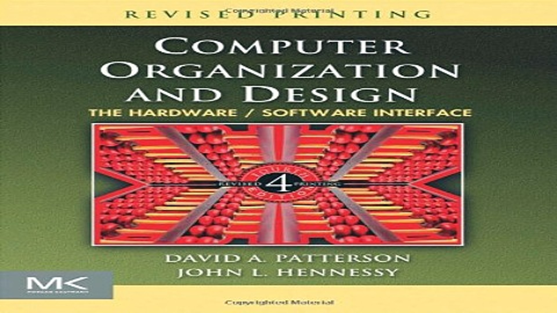 Read Computer Organization And Design Fourth Edition The Hardware Software Interface The Morgan Video Dailymotion
