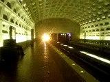 Rohr Train enters Crystal City Station Washington Metro