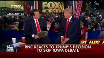 RNC reacts to Donald Trumps decision to skip Iowa debate