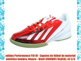adidas Performance F10 IN - Zapatos de fútbol de material sintético hombre blanco - Weiß (RUNWHT/BLACK)