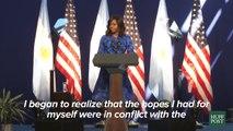 Michelle Obama dio un discurso para inspirar a las jóvenes mujeres en Argentina