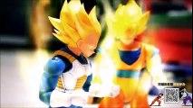 Combat en stop motion broly vs goku végéta (figurines)