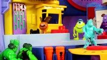 Incredible Hulk Kids Attend Disney Pixar Imaginext Monsters University And Ride On School Bus