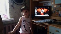 """Ukrainian Child Taught to Sieg Heil, Chant """"I Will Cut Russians"""" """"Death to Russians"""""""