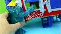 Mr. Freeze Freezes Spiderman & Clayface Imaginext Batman saves DC super heroes