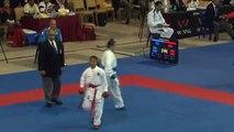 2011 WKF Junior World Championships Female Junior Kumite -48 Kg Italy vs India.mpg